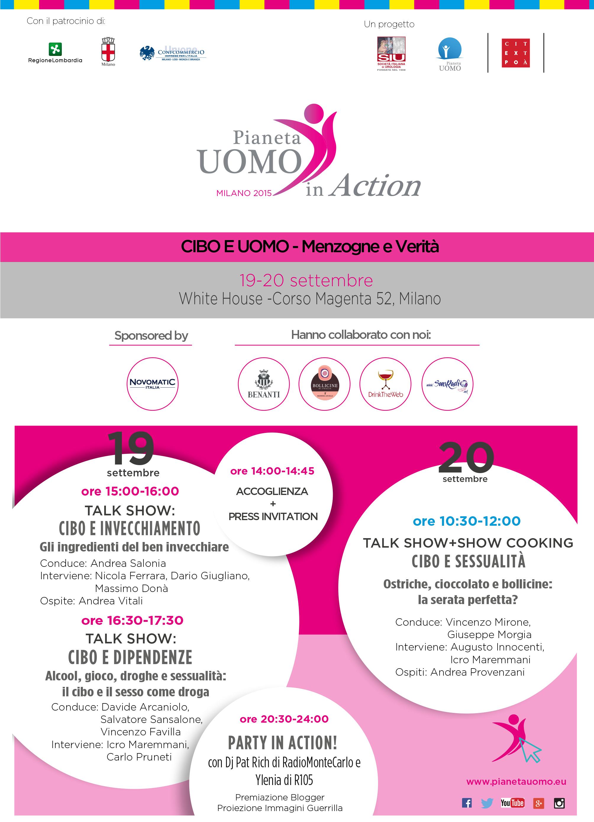 Pianeta Uomo in Action - Programma